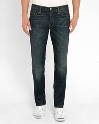 Levi's Dark Denim 504 Dusty Washed Straight Jeans Blue