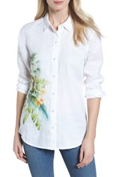 Tommy Bahama 'S Queen Palms Linen Shirt White