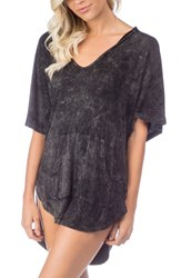 Green Dragon Women's Riviera Hooded Cover Up Black