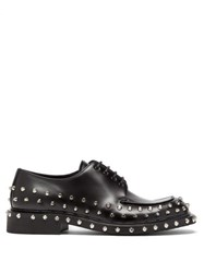 Prada Studded Leather Derby Shoes Black