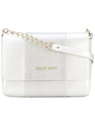 Armani Jeans Two Tone Shoulder Bag White
