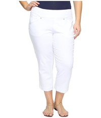 Jag Jeans Plus Size Marion Crop In Bay Twill White Women's Casual Pants