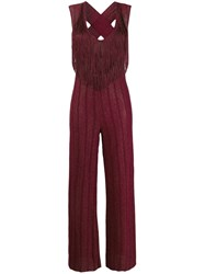 Aniye By Fringe Jumpsuit Red