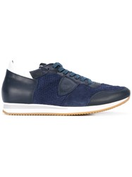 Philippe Model Tropez Sport Sneakers Men Leather Suede Rubber 40 Blue