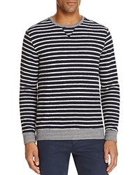 Sol Angeles Reverse Terry Striped Sweatshirt Gray