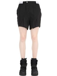 Hba Hood By Air Nylon Canvas Shorts With Side Slits
