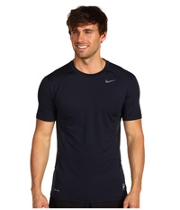 Nike Pro Combat Fitted 2.0 S S Crew Dark Obsidian Grey Men's Short Sleeve Pullover Navy