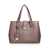 Carvela Mandy Lock Slouch Tote Bag Taupe