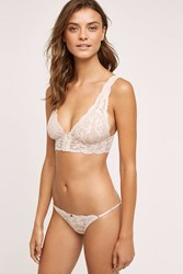 Anthropologie Clo Intimo Fortuna Long Line Bralette Pink