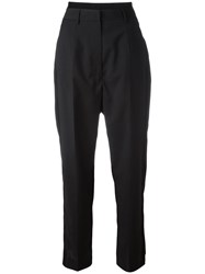 Maison Martin Margiela Mm6 Tailored Cropped Trousers Black