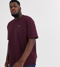 Lyle And Scott Logo T Shirt In Burgundy Red