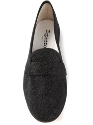 Repetto Textured Low Heel Loafers Black