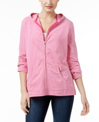 Karen Scott Petite Striped Hoodie Only At Macy's Wild Punch