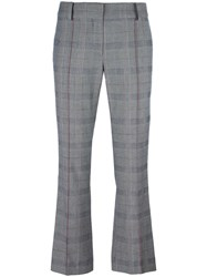 Cedric Charlier Cropped Slim Fit Trousers Grey