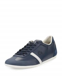 Lacoste Mokara Leather Low Top Sneaker Blue