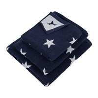 Amara Navy Star Towel Blue