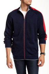 Tommy Bahama Red Sox Full Zip Sweater Jacket Blue