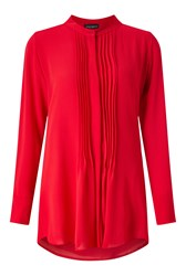 James Lakeland Pleat Front Blouse Red