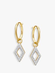 Missoma Diamond Charm Hoop Earrings Gold