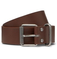 A.P.C. 3.5Cm Brown Leather Belt Brown