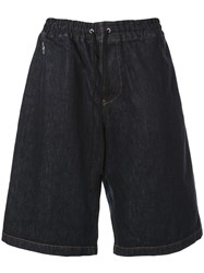 Undercover Wide Leg Denim Shorts Blue
