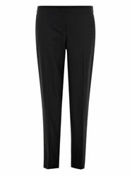 Theory Cropped Wool Blend Flannel Trousers