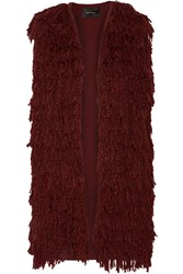 Isabel Marant Alfie Fringed Silk Vest Red