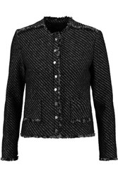 Maje Metallic Tweed Jacket Black