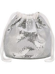 Paco Rabanne Sequin Embellished Pouch Bag Metallic