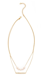 Gold Philosophy Layered Necklace Pearl Gold