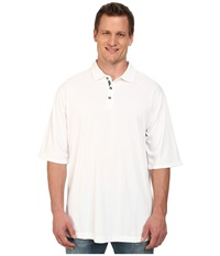 Tommy Bahama Big Tall Firewall Spectator Bright White Men's Short Sleeve Pullover