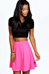 Boohoo Colour Pop Skater Skirt Pink