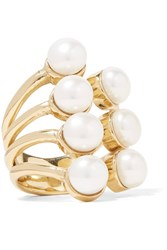Cornelia Webb Gold Plated Pearl Ring