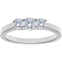 Diamond Collection 18Ct White Gold Round Brilliant Trilogy Engagement Ring 0.75Ct