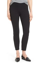 Halogenr Petite Women's Halogen Side Zip Ponte Ankle Pants Black
