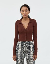 Which We Want Campbell Knit Cardigan Brown