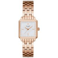 Kate Spade New York Ksw1132 Women's Washington Square Bracelet Strap Watch Rose Gold White