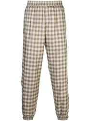 Opening Ceremony Gingham Sweatpants Neutrals