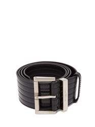 Givenchy Ribbed Patent Leather Belt Black