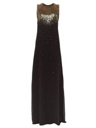 Givenchy Gradient Sequin Silk Georgette Gown Black Gold