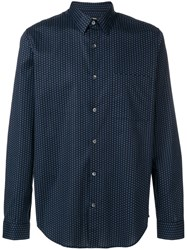 Theory Irving Dot Print Shirt Blue