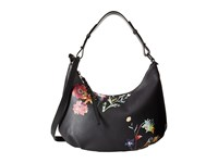 Elliott Lucca Demi Hobo Black Spring Botanica Hobo Handbags