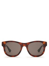 Gucci Square Frame Acetate Sunglasses Brown Multi