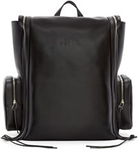 Hood By Air Black Leather Deb Zip Backpack