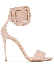 Casadei Ankle Buckle Sandals Nude And Neutrals
