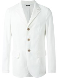 Giorgio Armani Three Button Blazer White