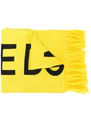 Off White Fire Tape Scarf Yellow And Orange