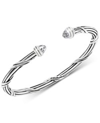 Peter Thomas Roth White Topaz Cuff Bracelet 2 3 4 Ct. T.W. In Sterling Silver