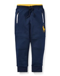 Ralph Lauren Logo Embroidered Drawstring Sweatpants Blue