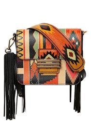Etro Printed Leather Shoulder Bag Multicolor